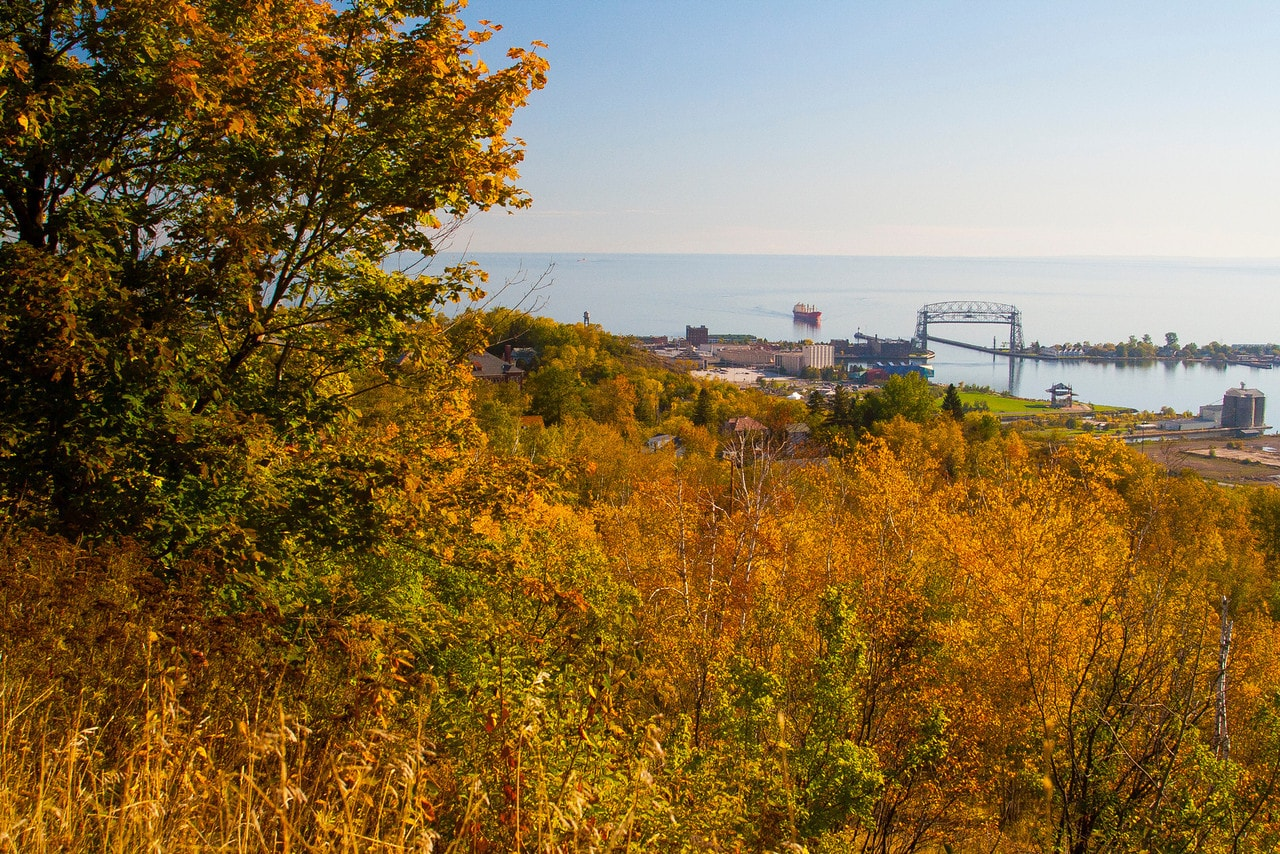 View near Enger Tower.